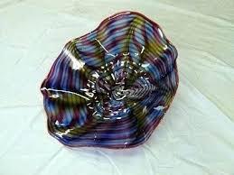 hand blown glass plates plate dinner art antique wal