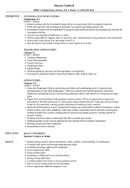How To Put Shadowing On A Resume News Intern Resume Samples Velvet Jobs 15