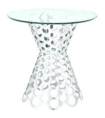 round silver accent table silver accent table polished silver circle cut out glass top accent table round silver accent table