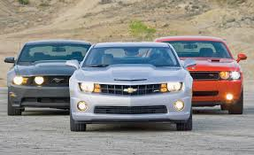 2010 Chevy Camaro SS vs. 2010 Ford Mustang GT, 2009 Dodge ...