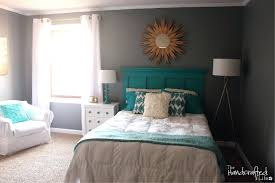 white painted wood headboard hand painted wood headboard extraordinary turquoise white and gray bedroom decoration using light grey bedroom wall paint