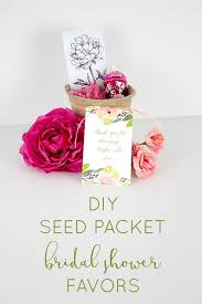 easy diy bridal shower favor idea make wildflower seed packets for a fl themed bridal