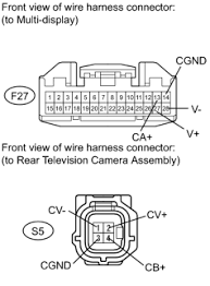 park assist monitoring rear view monitor system description a disconnect the f27 multi display connector