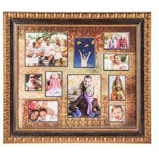 copper ornate collage wall frame