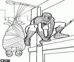 Kleurplaten Spiderman Of Spider Man Kleurplaat