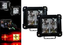 drl pod 3 oz usa® 20w white led spot beam and amber drl wiring drl pod 3 red 20w led spot beam red drl function rear fog light
