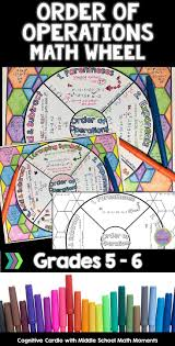 best math tutorials ideas year maths  order of operations math wheel note taking format