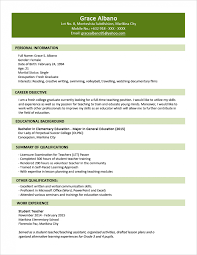 Template Sample Resume Format For Fresh Graduates Two Page Writing