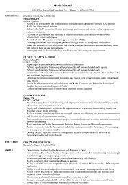Quality Assurance Auditor Resume Sample Quality Auditor Resume Samples Velvet Jobs 8