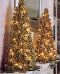 Christmas Tree Cone With Lights Lighted Pinecone Trees Christmas Pine Cones Christmas