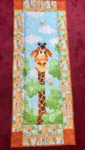Giraffe Growth Chart Quilt Personalized Boys Or Girls Room Decor Growth Chart Nursery Wall Decor Giraffe Wall Hanging Baby Shower Gift