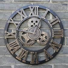 oversized rustic wall clock handmade