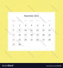 2015 Calendar Page Calendar Page For November 2015 Royalty Free Vector Image