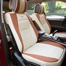 beige car leather seat cushion bucket covers w beige steering cover for auto 1