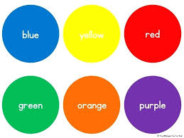 Basic Color Chart For Kids Colors Chart For Preschoolers Writing Center Tools Color