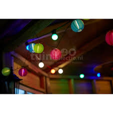 Feestverlichting Solar Lampion 10x Multicolor Tuincollectienl