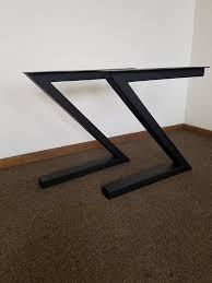 z shaped steel metal table desk bench