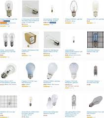appliance light bulbs