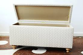 diy upholstered storage bench amazing upholstered bench with storage padded storage benches plan diy ottoman storage