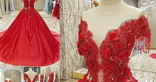 New red ball gown evening dresses - UK fashion style