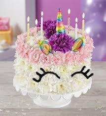 Birthday Wishes Flower Cake Unicorn From 1 800 Flowerscom