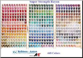 Robison Anton Color Chart Robison Anton Complete Rayon Mini King Collection Sewing