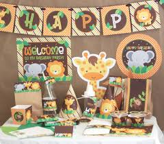 Jungle Decoration 1st Birthday Party Decorations Jungle Cake Ideas And Birthday