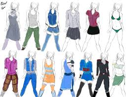 Design Clothes Anime Anime Clothing Clothing Designs Practice 1 By Goldencard