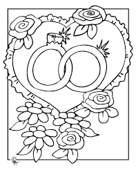 Image Result For Free Printable Wedding Coloring Pages Activities