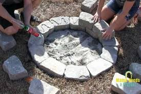 Build A Diy Stone Fire Pit In 2 Hours Mama Needs A Project