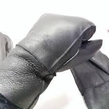winter work gloves men sheepskin gloves genuine leather