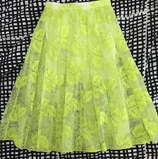 Thea By Thara Fluoro Duo Midi Party Skirt Womens Fashion