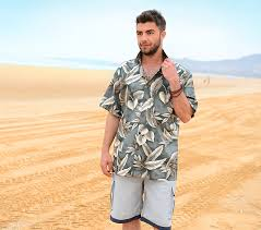 2019 мужские пляжные <b>рубашки</b> из хлопка с коротким рукавом ...