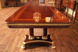 mahogany dining table designer furniture high end extra large wood room sets copyrighted design opens feet king demure antiquepurveyor set with bench