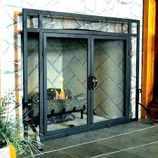 fireplace screen and doors fireplace screens with doors screen door parts glass for spark fireplace
