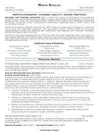 Assistant Portfolio Manager Resume Portfolio Resume Examples