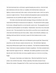 Civil War Essay Advantages Between North And South In Civil War Term Papers