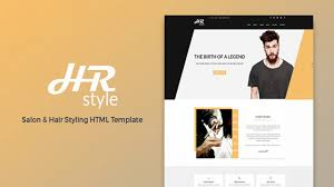 Hr Design Html Hr Style Salon Hair Styling Html Template Themeforest Website Templates And Themes