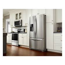 french door refrigerator in kitchen. Ft. French Door Refrigerator With Coolvox\u0026trade; Kitchen Sound System In G