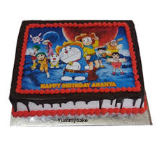 Doraemon Cartoon Cake Online Free Home Delivery Yummycake