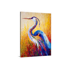 marion rose premium thick wrap canvas wall art print 30 x40 entitled steady gaze heron only