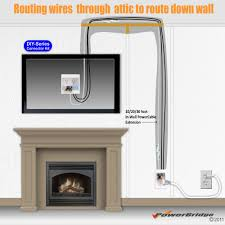 suggested wiring routes for above fireplace fp diys fp diya