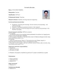 format of marriage resume