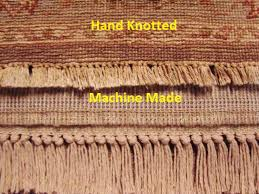 what is the difference between a hand knotted hand tufted and machine made rug