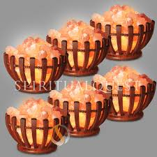 abun wooden bowl salt lamp finely crafted