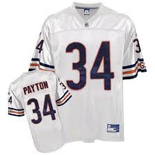 Hot 34 Premier Walter Payton White Reebok Nfl Road Mens