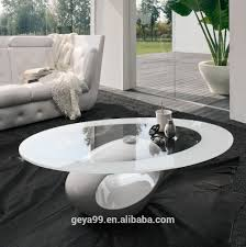 round shape cheap modern lacquered fiber glass coffee table for