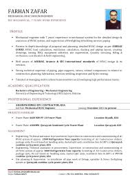 Hvac Engineer Sample Resume Sarahepps Com