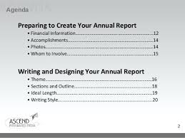 3 Preparing To Create Your Annual Report Simple Financial Format ...