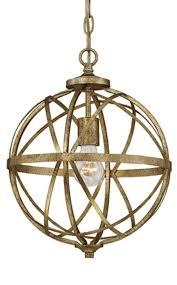 lakewood vintage gold iron sphere pendant light 12 sphere pendant light e18